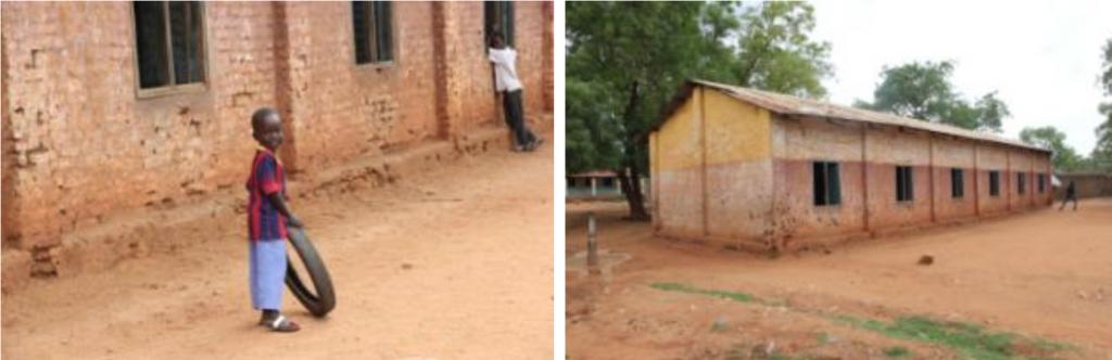 Das desolate und renovierungsbedürftige Schulgebäude
