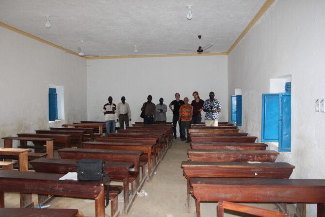 Die Renovierung des Klassenraumes der St. Theresa Grundschule in Juba